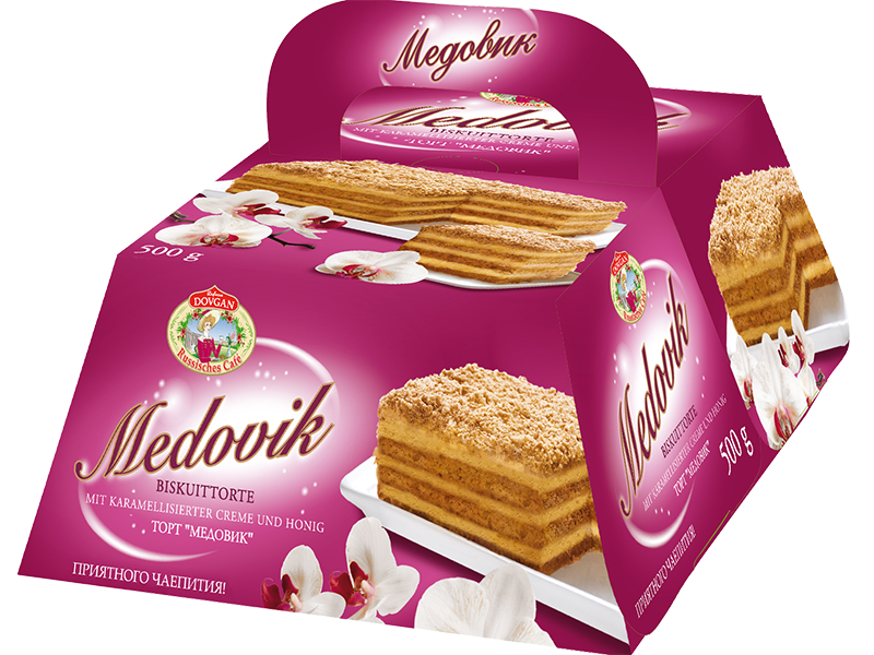 Russisches Cafe Medovik Torte Mit Honiggeschmack 500g